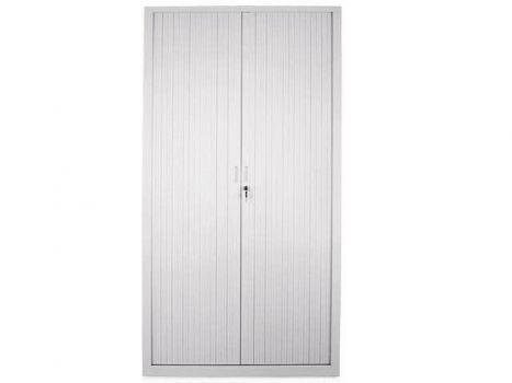 Armario de puertas de persiana retractable metálico de 198 cm de altura marca Gapsa