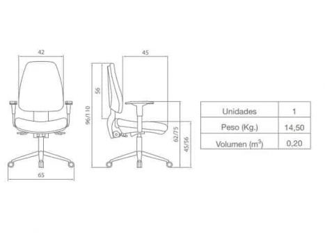 Diagrama de silla de oficina barata Adapta