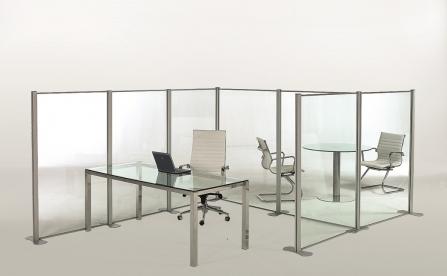 Biombos y Mamparas anticontagios para organizar espacios de oficina