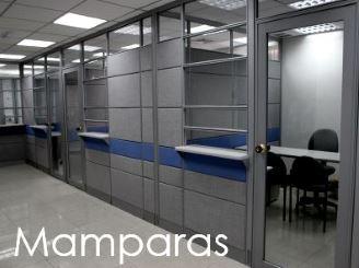 Mamparas y divisiones de espacios de oficina